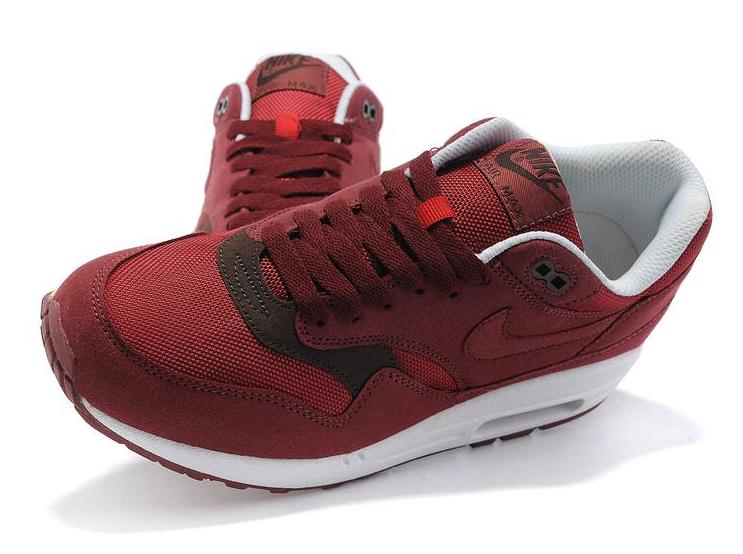 Nike Air Max 1 (87) (Team RedVelvet BrownWhite) (41 45)
