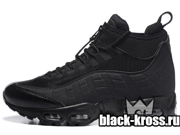 d36e1064 NIKE AIR MAX 95 Sneakerboot All Black за 4990 купить в Москве