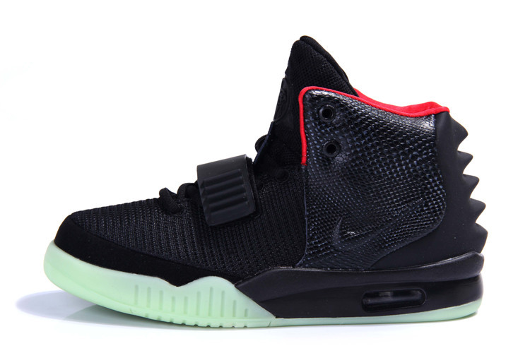 Nike Air Yeezy 2 Black Red men women714_LRG