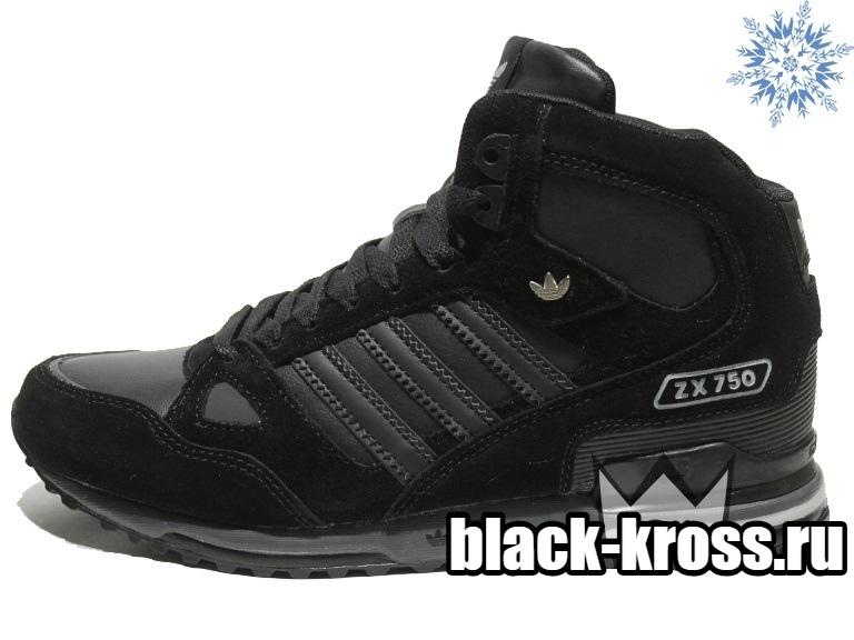 Зимние Adidas ZX 750 All Black (41-45)