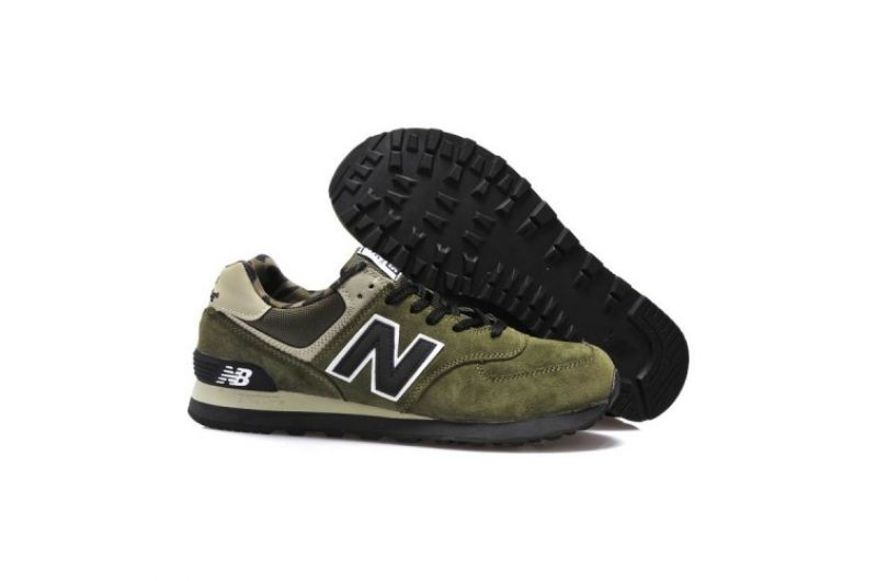 Outlet New Balance ML574XGR Camo Pack Military green black Men(14911331601043)