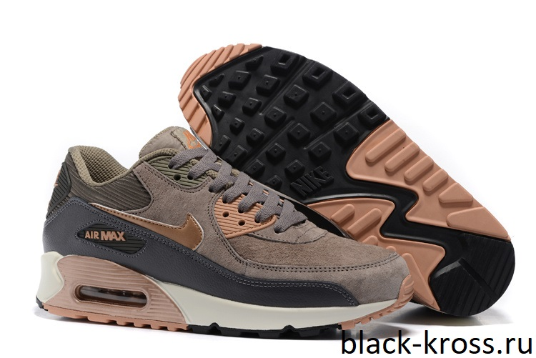 77f93c30 Nike Air Max 90 LTHR Brown/Grey (36-45) - Дисконт-Центр Кроссовок