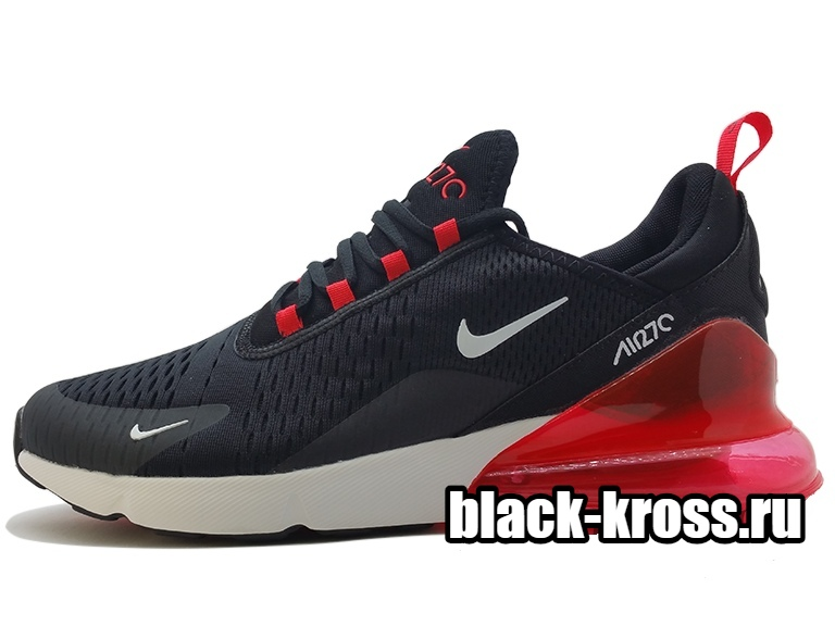 NIKE AIR MAX 270 Black & Red унисекс (36-45)