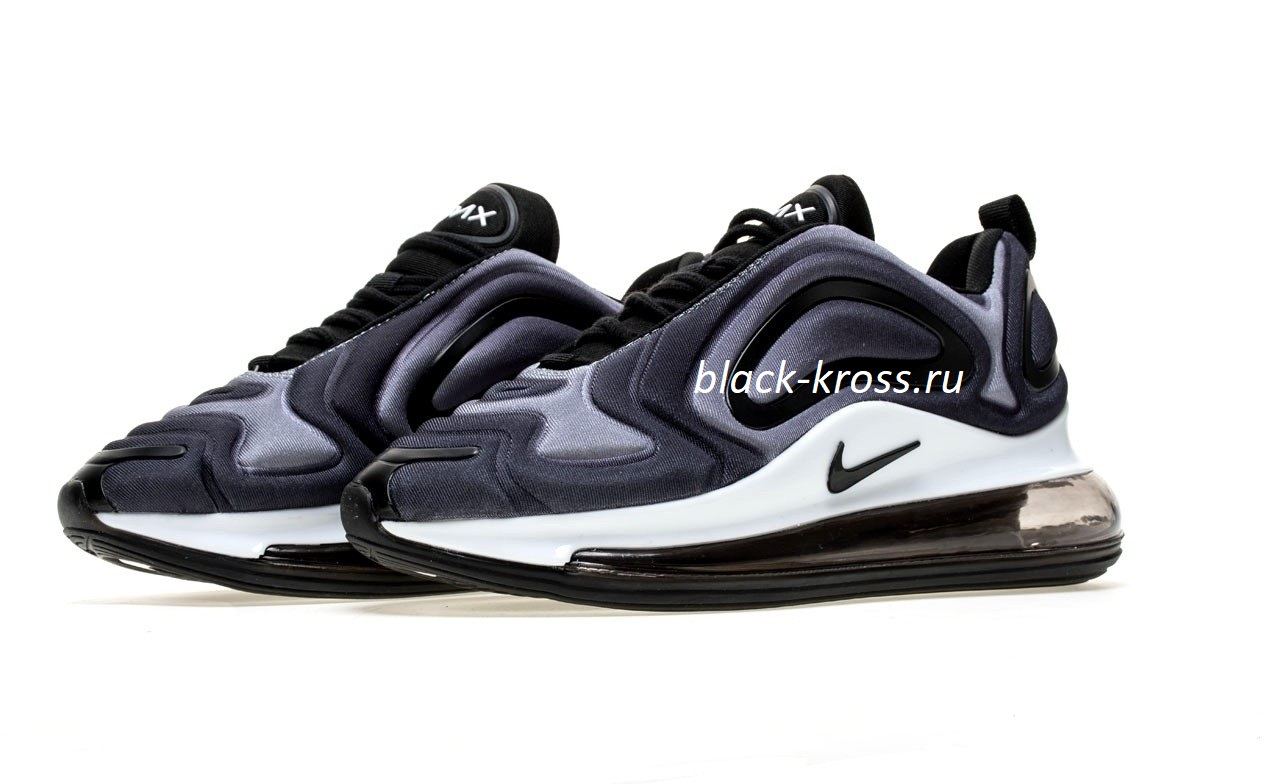 Men's Athletic running shoes Nike Air Max 720 in black lime purple NIKE008464