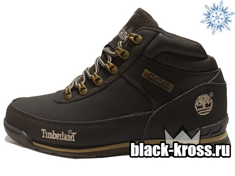 Timberland Earthkeepers® Euro Rock Hiker Brown с мехом (41-46)