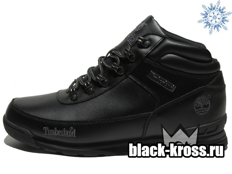 Timberland Earthkeepers® Euro Rock Hiker Black с мехом (41-46)