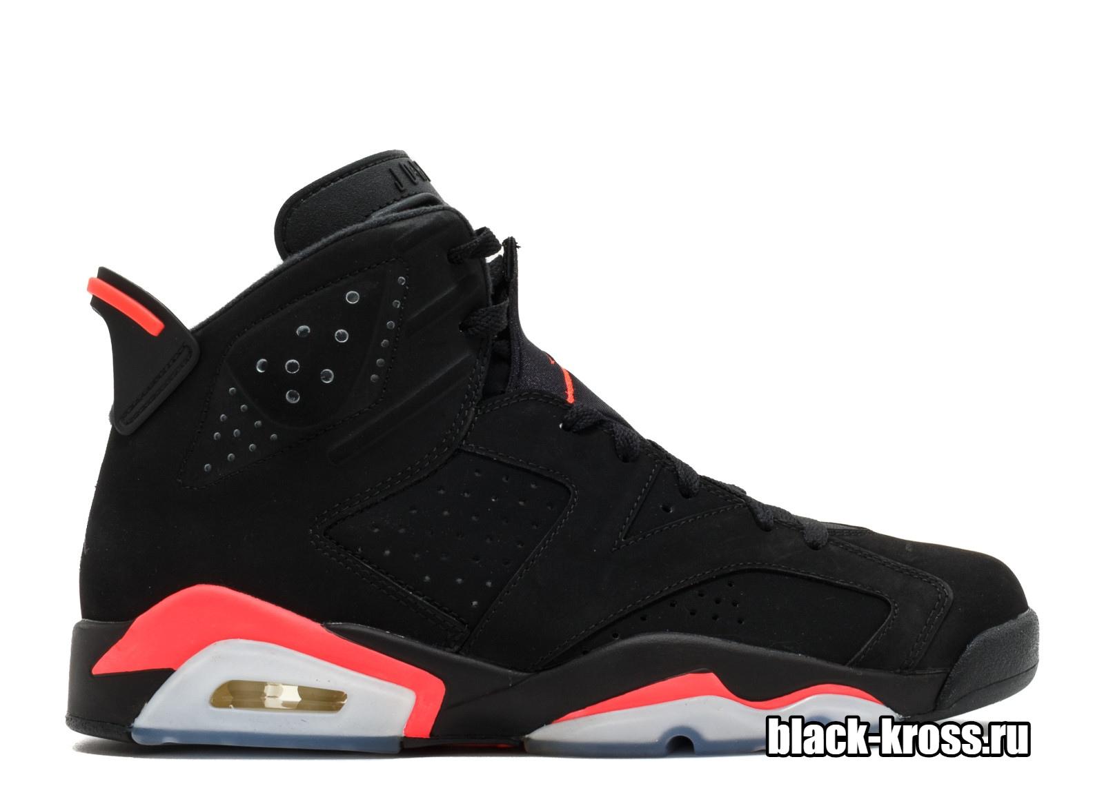 Nike Air Jordan 6 черно-красные (36-45)