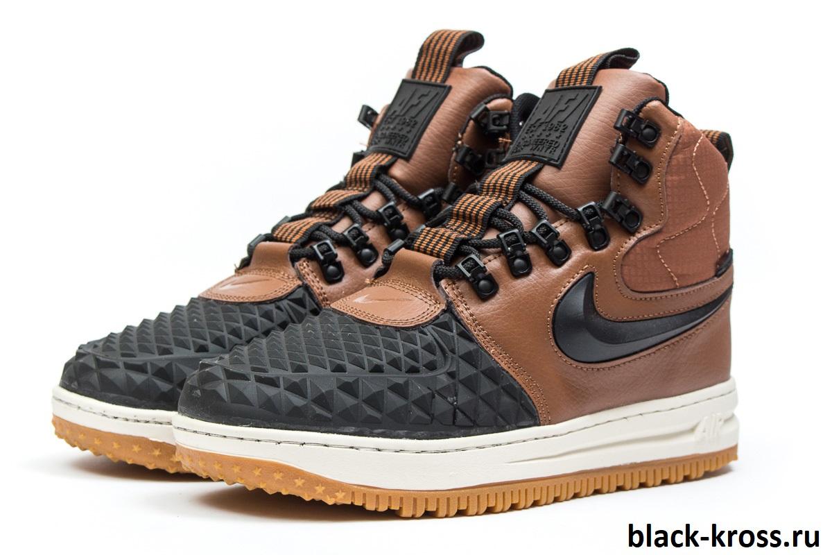 Зимние Nike LF1 Duckboot Коричневые (41-45)