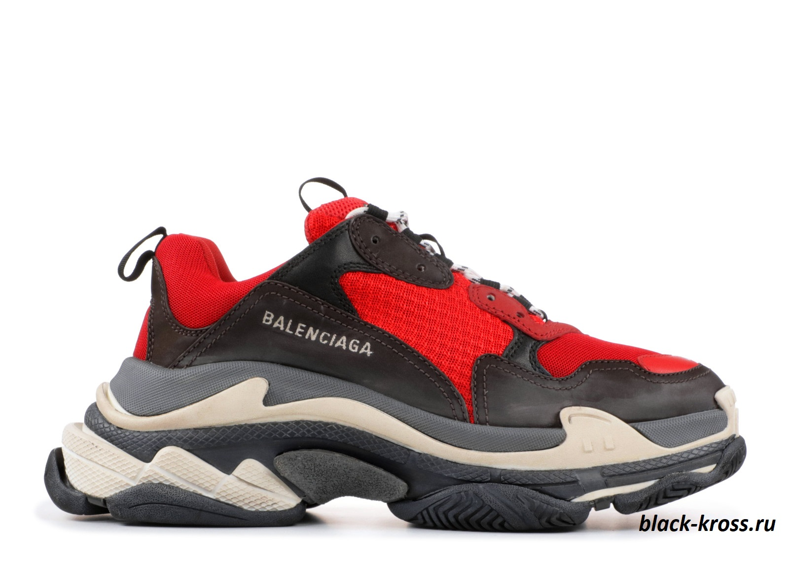BALENCIAGA TRIPLE S Red & Black унисекс (36-45)