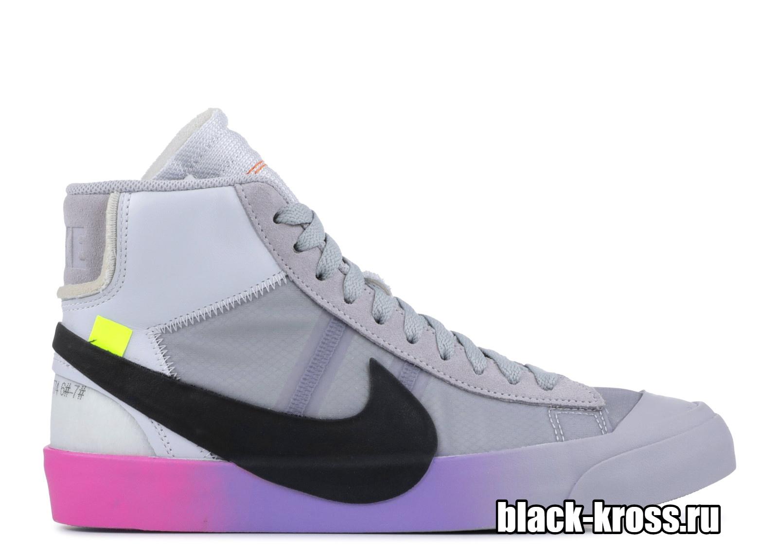 Nike Blazer Mid Off-White Wolf Grey Serena «Queen» (36-45)