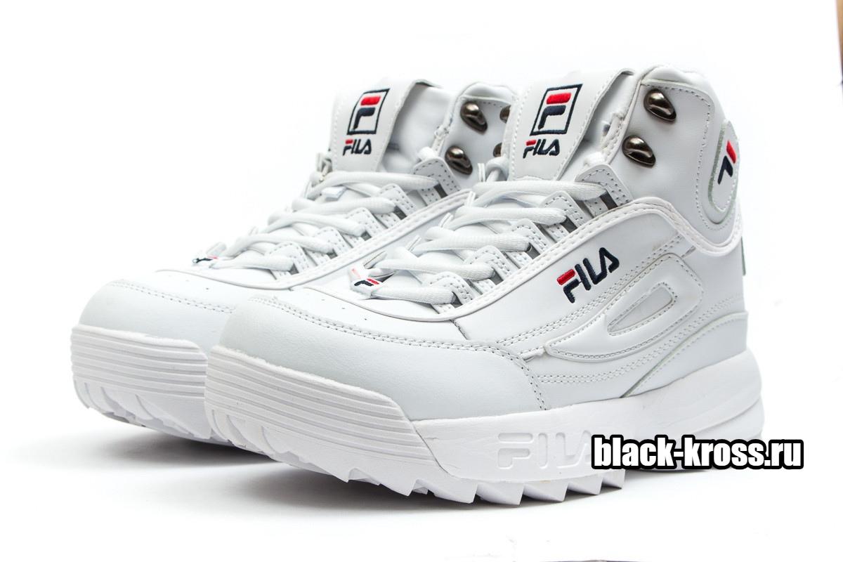 Fila Disruptor 2 High White с мехом (36-41)