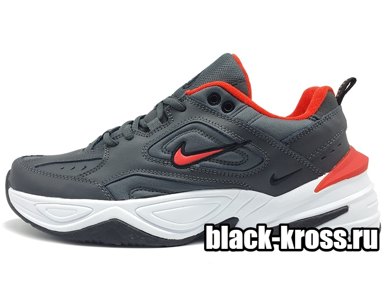 NIKE M2K TEKNO Grey & Red мужские (41-45)