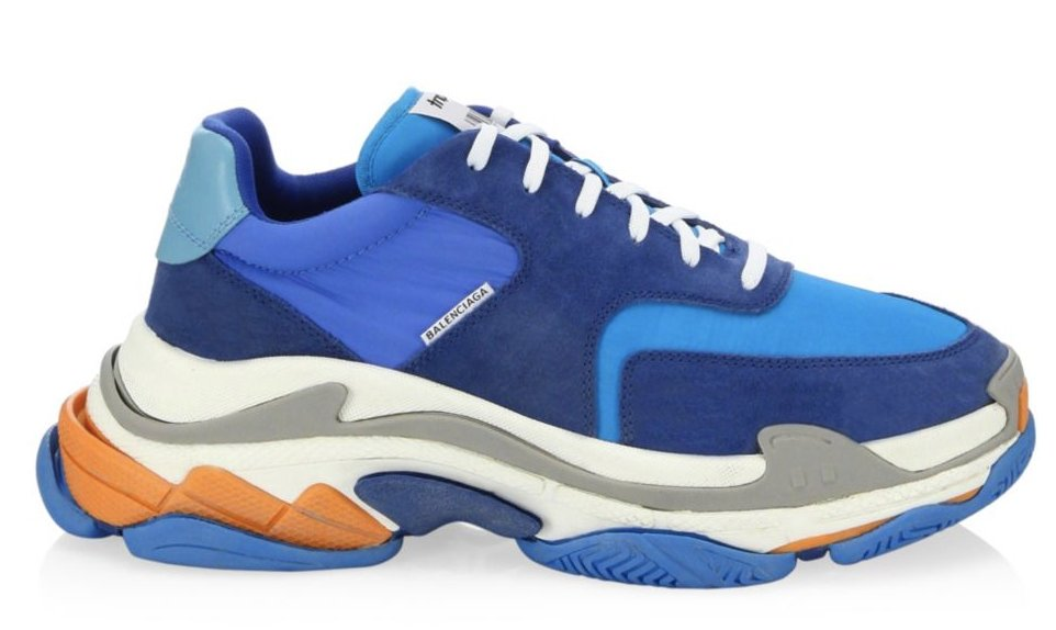 Balenciaga Triple S Blue Orange (36-40)