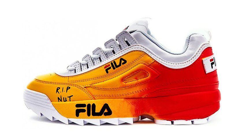 FILA DISRUPTOR 2 White & Yellow & Red женские (36-40)