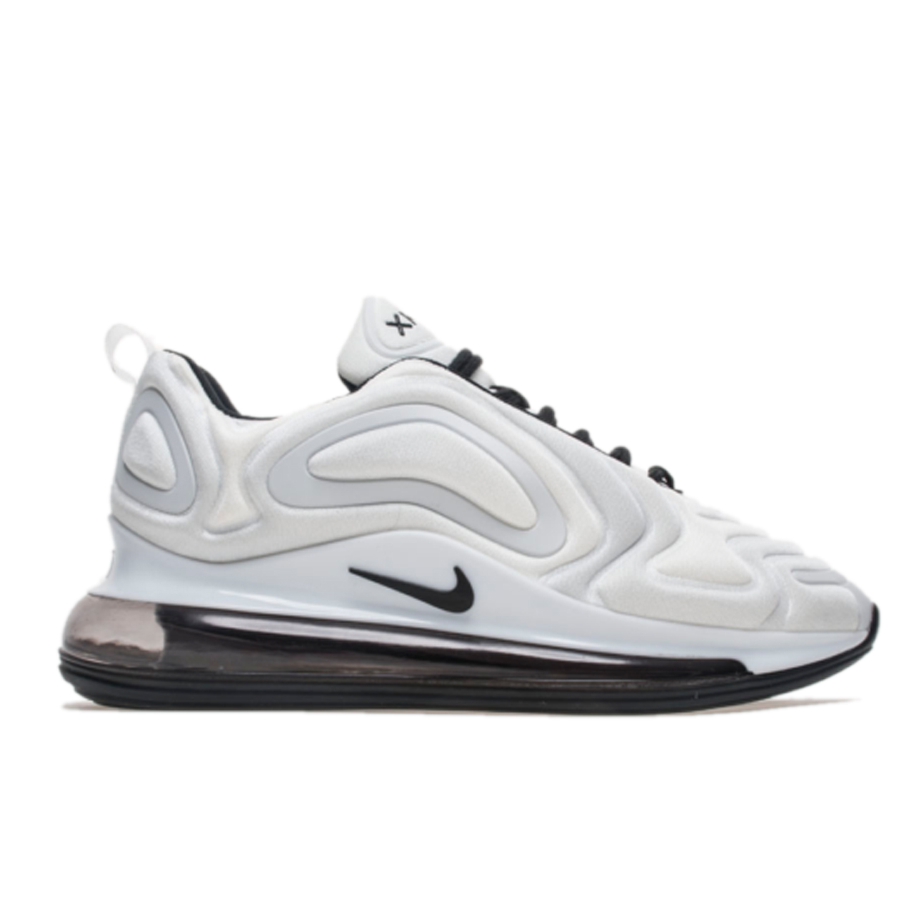 NIKE AIR MAX 720 White & Black унисекс (36-45)