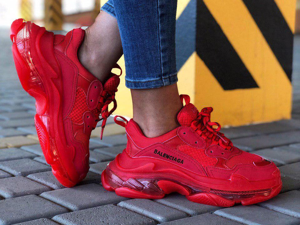 Balenciaga Triple S Red (36-40)