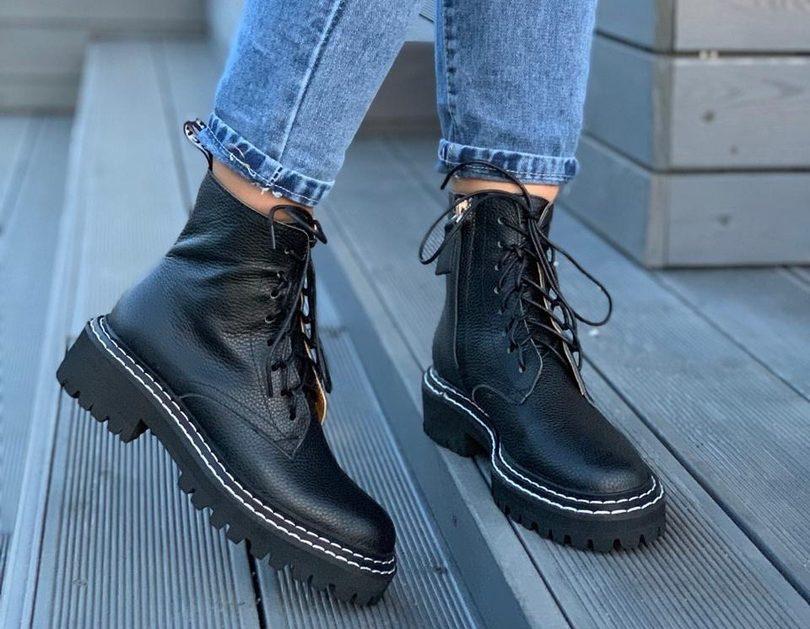 Женские Ботинки VALENTINO Black (36-41)