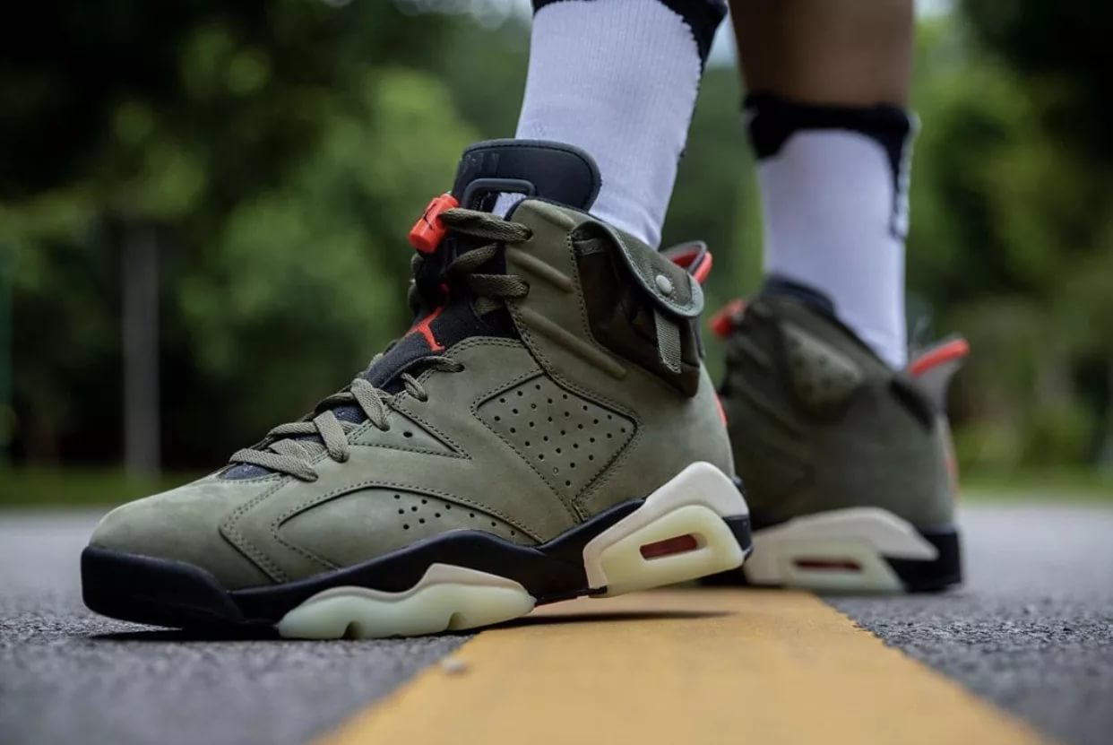 "Travis Scott x Nike Air Jordan 6 ""Medium Olive"" (41-45)"